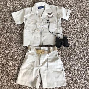 Zoo Keeper costume sz 2T
